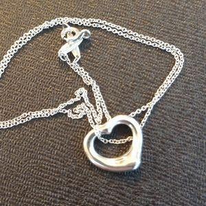Tiffany & Co. Peretti Open Heart Necklace